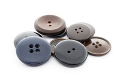 Sewing buttons. Plastic buttons, Buttons close up on white background Royalty Free Stock Photography