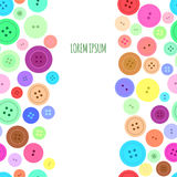 Sewing Buttons Seamless Background. Vector Stock Photos