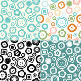 Sewing buttons seamless pattern Royalty Free Stock Photos