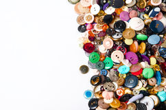 Sewing buttons with space for text Royalty Free Stock Photos