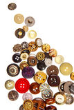 Sewing buttons on white Royalty Free Stock Image