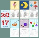 Sewing calendar 2017 Stock Photos