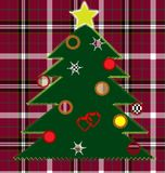 Sewing christmas tree Stock Image