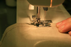 Sewing closeup Stock Photo