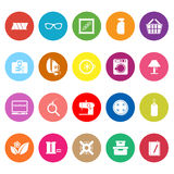 Sewing cloth related flat icons on white background Royalty Free Stock Image