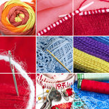 Sewing collage Stock Photos