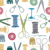 Sewing Color Background Stock Photography