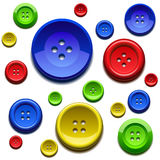 Sewing color buttons. Background composed by sewing color buttons stock illustration