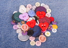 Sewing color buttons Royalty Free Stock Photo