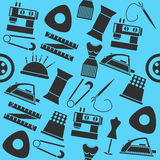 Sewing color pattern Stock Images