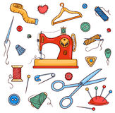 Sewing color set Stock Image