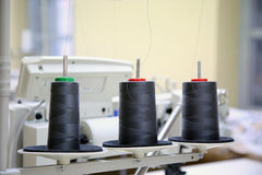 Sewing company, equipment and materials Stock Image