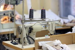 Sewing company, equipment and materials Royalty Free Stock Image