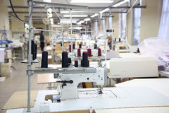 Sewing company, equipment and materials Stock Photos