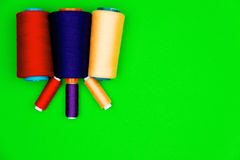 Sewing concept. Colorful sewing spools Royalty Free Stock Images
