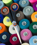 Sewing cotton and accessory Stock Photo