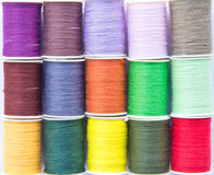 Sewing Cotton Spools Stock Photo