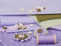 Sewing Craft Kit. Tailoring Hobby Accessories Stock Photography