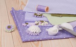 Sewing Craft Kit. Tailoring Hobby Accessories Stock Images