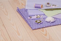 Sewing Craft Kit. Tailoring Hobby Accessories Stock Image