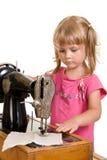 Sewing da criança Fotos de Stock Royalty Free