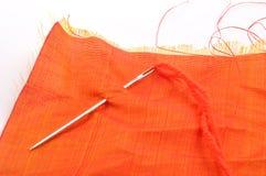 Sewing da mão Fotografia de Stock
