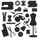 Collection of sewing inventory  Stock Image