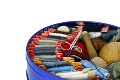Sewing - darning cottons Stock Images