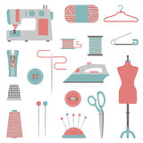Sewing design elements Stock Images