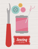 Sewing design Stock Images
