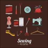 Sewing design stock illustration
