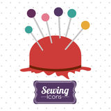 Sewing design Royalty Free Stock Image
