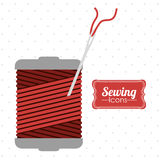 Sewing design Royalty Free Stock Images
