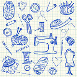 Sewing doodles Stock Photography