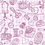 Sewing doodles Stock Image
