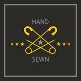 Sewing emblem Royalty Free Stock Photo