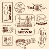 Sewing Emblems Set Royalty Free Stock Image