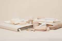 Sewing And Embroidery Craft Kit. Natural Linen Royalty Free Stock Images