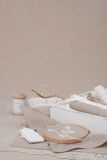 Sewing And Embroidery Craft Kit. Natural Linen Royalty Free Stock Photography