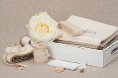 Sewing And Embroidery Craft Kit. Tailoring Accessories.  Stock Image