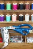 Sewing equipment royalty free stock images