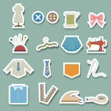 Sewing equipment icons Royalty Free Stock Images