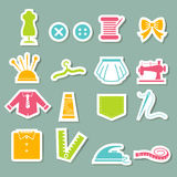 Sewing equipment icons Royalty Free Stock Photos