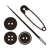 Sewing equipment and needlework set Stock Photos