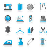 Sewing equipment and objects icons Stock Photo
