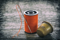 Sewing equipment, tools Royalty Free Stock Image