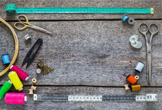 Sewing equipment, tools Stock Images