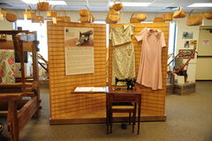 Sewing exhibit at the West Tennessee Delta Heritage Center. The West Tennessee Delta Heritage Center is a tourist information center and 3 Regional Museums royalty free stock image