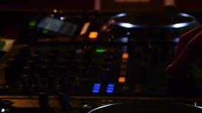 DJ in club stock video footage