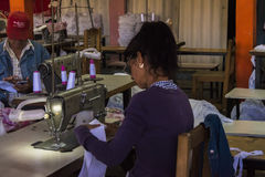 Sewing factory in Vinales, Cuba Stock Images